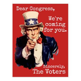 """We're Coming, Congress"" Postcard"