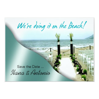 We're doing it on the Beach Save the Date Announcements