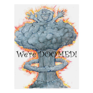 We're DOOMED! Postcard