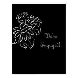 we're engaged postcard