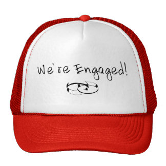 We're Engaged (Rings) Hat