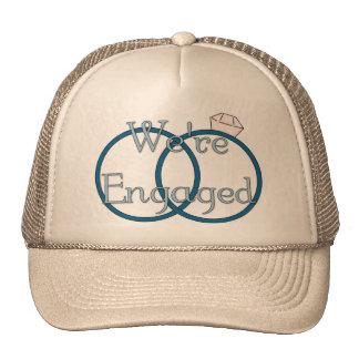We're Engaged Wedding Rings Tees, Gifts Mesh Hat