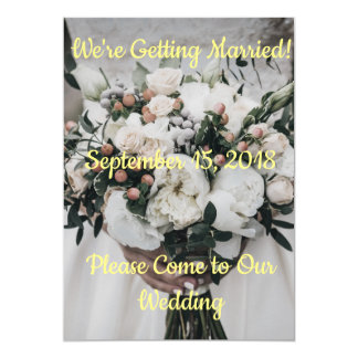 We're Getting Married Invitation
