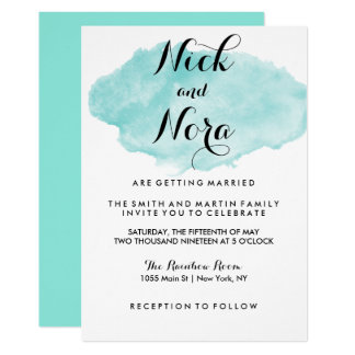 We're Getting Married Watercolor Invitation