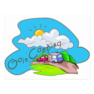We're Going Camping Postcard