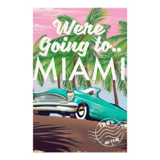Were going to Miami Stationery