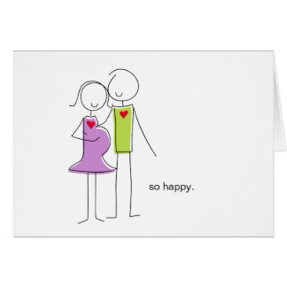 """We're Having a Baby"" Note Cards, couple Card"