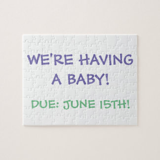 """""""We're Having a Baby!"""" Puzzle"""