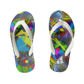 """We're Having a Ball"" Custom Kids Flip Flops"