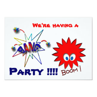 We're having a  Party !!!! 13 Cm X 18 Cm Invitation Card