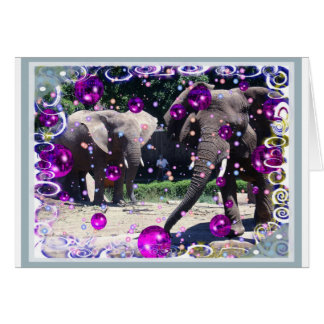 We're Having A Party Elephants Card
