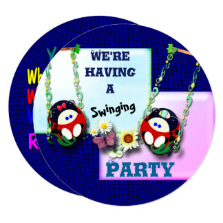 We're having a  Swinging Party !!!! Card