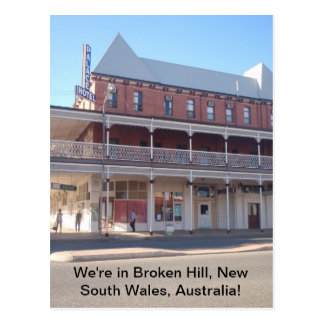 We're in Broken Hill, New South Wales Australia Postcard