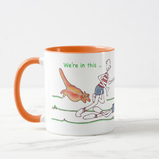 We're in This Together Cat Coffee Mug Customizable