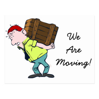 """We're Moving"" new address announcement Postcard"