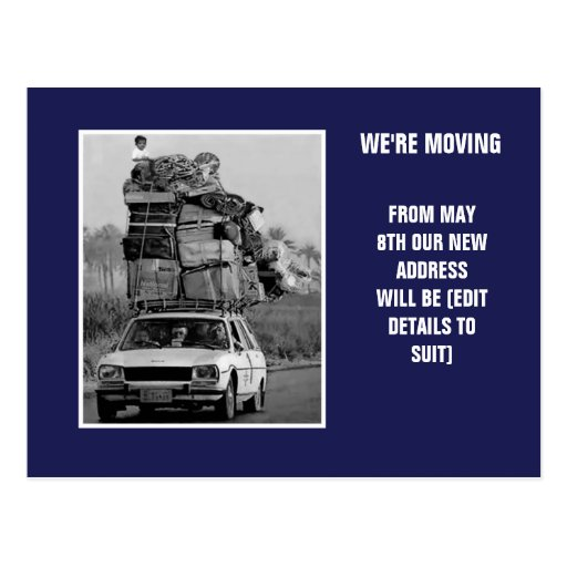 We're moving post card