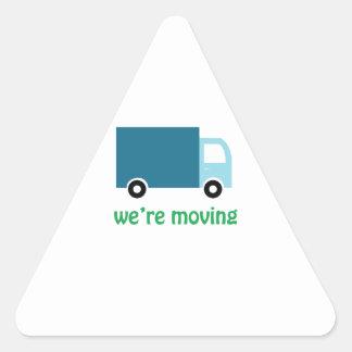 Were Moving Triangle Sticker