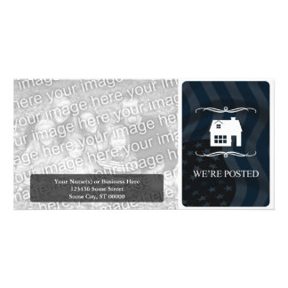 we're posted announcement : mod home customised photo card