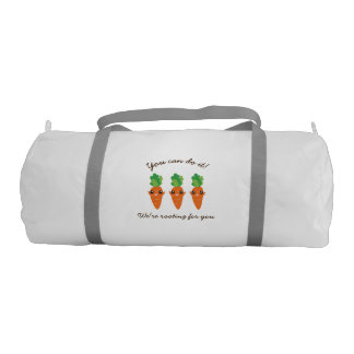 We're Rooting For You Funny Encouraging Carrots Gym Duffel Bag