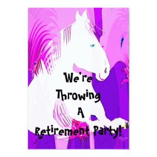 We're Throwing A Retirement Party! Invitation
