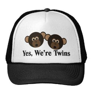 We're Twins 2 Boys Monkeys Cap