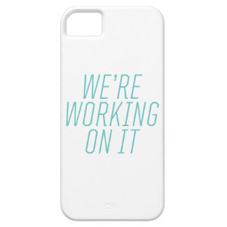 We're Working On It iPhone Case