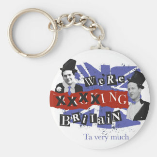 We're xxxxing Britain, ta very much Basic Round Button Key Ring