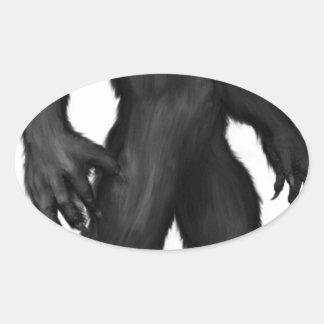 Werewolf #2 oval sticker
