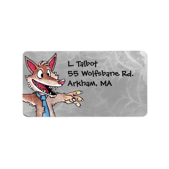 Werewolf Address Label