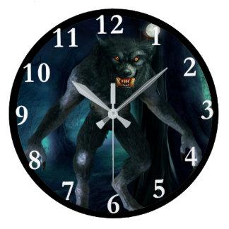 Werewolf Art Round Wall Clock