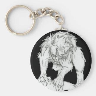 Werewolf Basic Round Button Key Ring