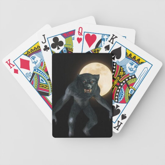 Werewolf Bicycle Playing Cards
