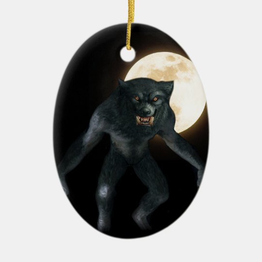 Werewolf Ceramic Ornament