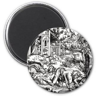 werewolf-clipart-8 6 cm round magnet