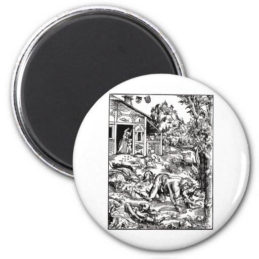 werewolf-clipart-8 refrigerator magnets