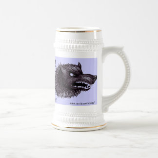 Werewolf funny beer mug