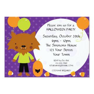 Werewolf Halloween Party 13 Cm X 18 Cm Invitation Card