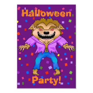 Werewolf Halloween Party Invitation