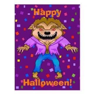 Werewolf Halloween Postcard