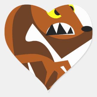 Werewolf Heart Sticker