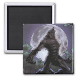 Werewolf Howling At The Moon Magnet