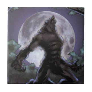 Werewolf Howling At The Moon Tile