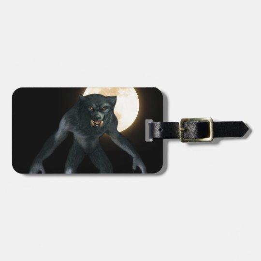 Werewolf Luggage Tag
