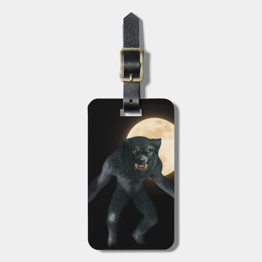 Werewolf Luggage Tag