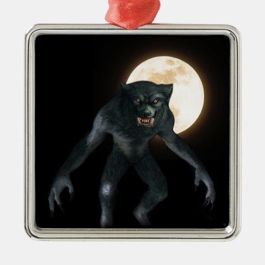Werewolf Metal Ornament