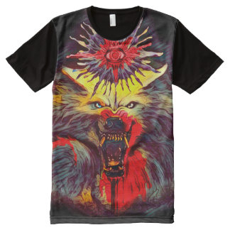 Werewolf Occult Magick Dark Horror Art All-Over Print T-Shirt