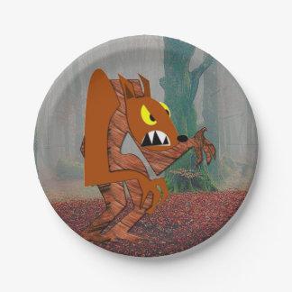 Werewolf Paper Plates