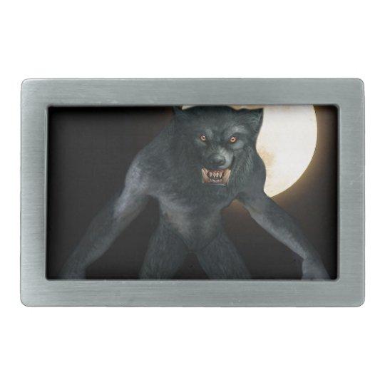 Werewolf Rectangular Belt Buckle