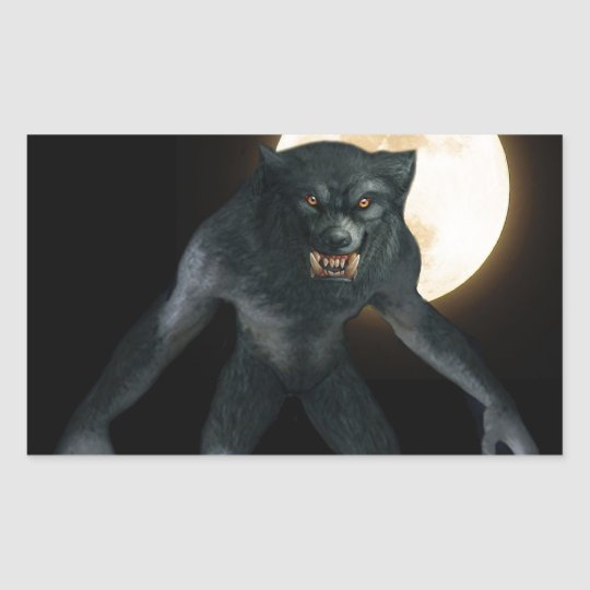 Werewolf Rectangular Sticker