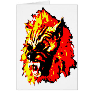 Werewolf Red, Yellow, Black Card